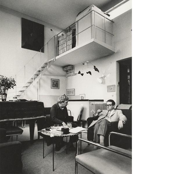 Nelly en Jean Leering in de atelierruimte, 1970 (foto Ad Petersen)